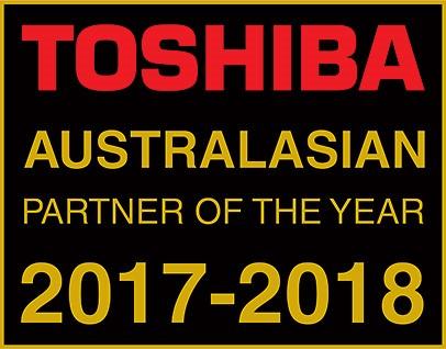 Toshiba Australasian Partner of the Year 2017-2018